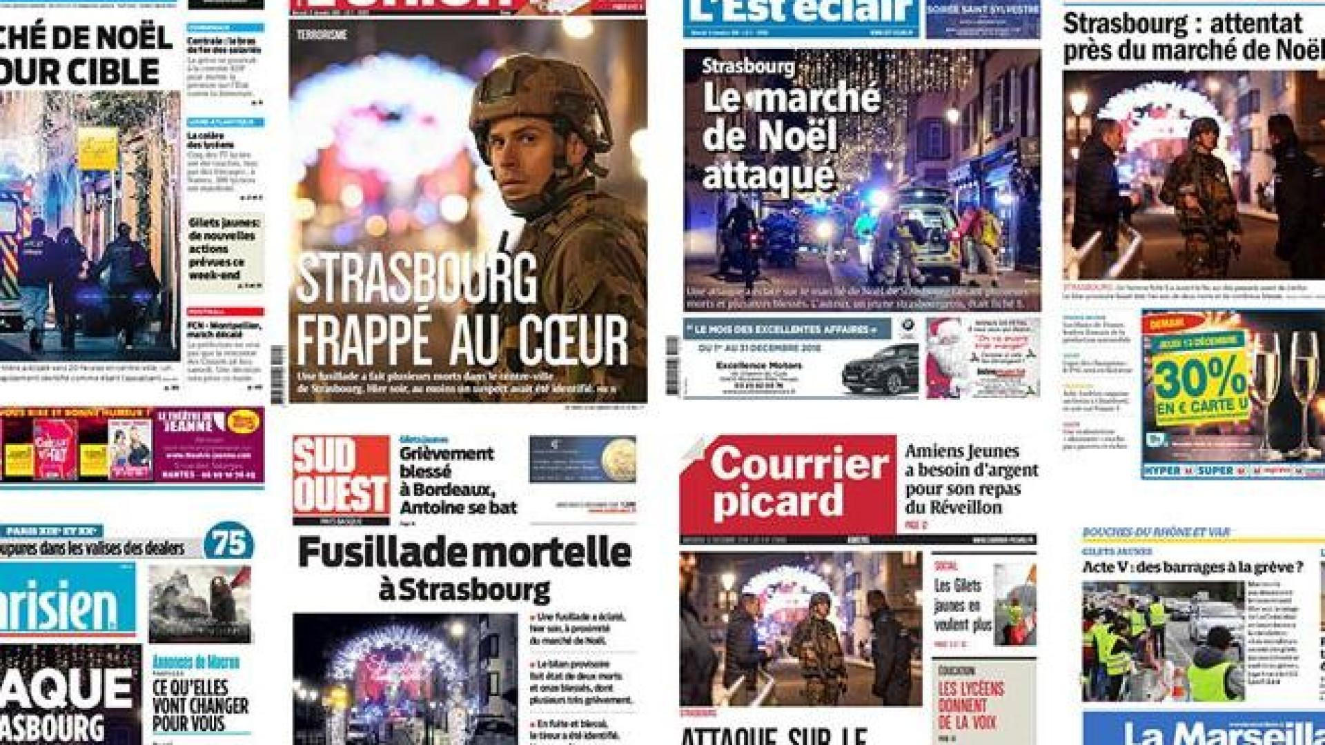 Assim reagiu a imprensa francesa ao ataque em Estrasburgo