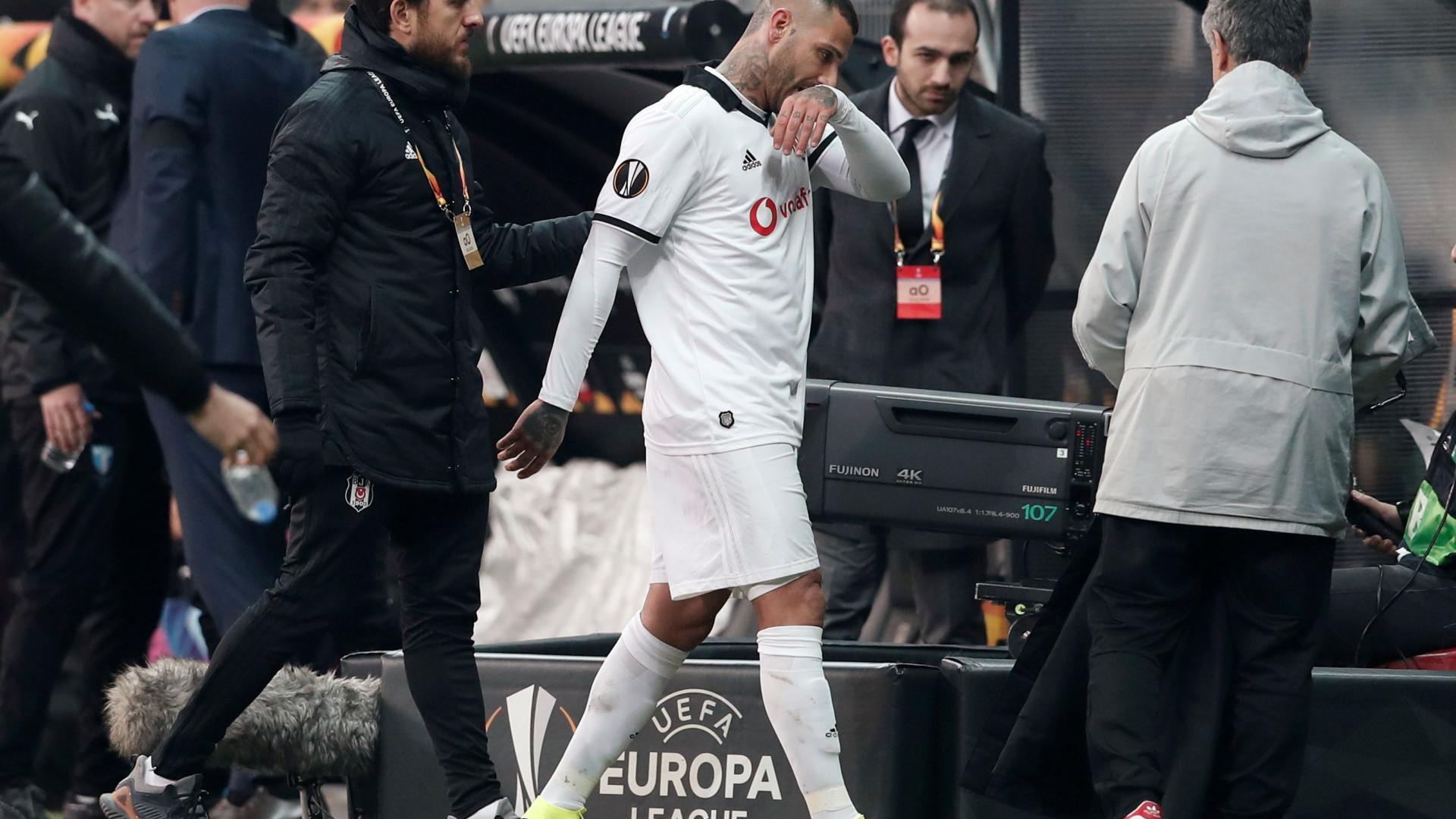 Bronca na Turquia: Quaresma expulso e Besiktas eliminado da Liga Europa