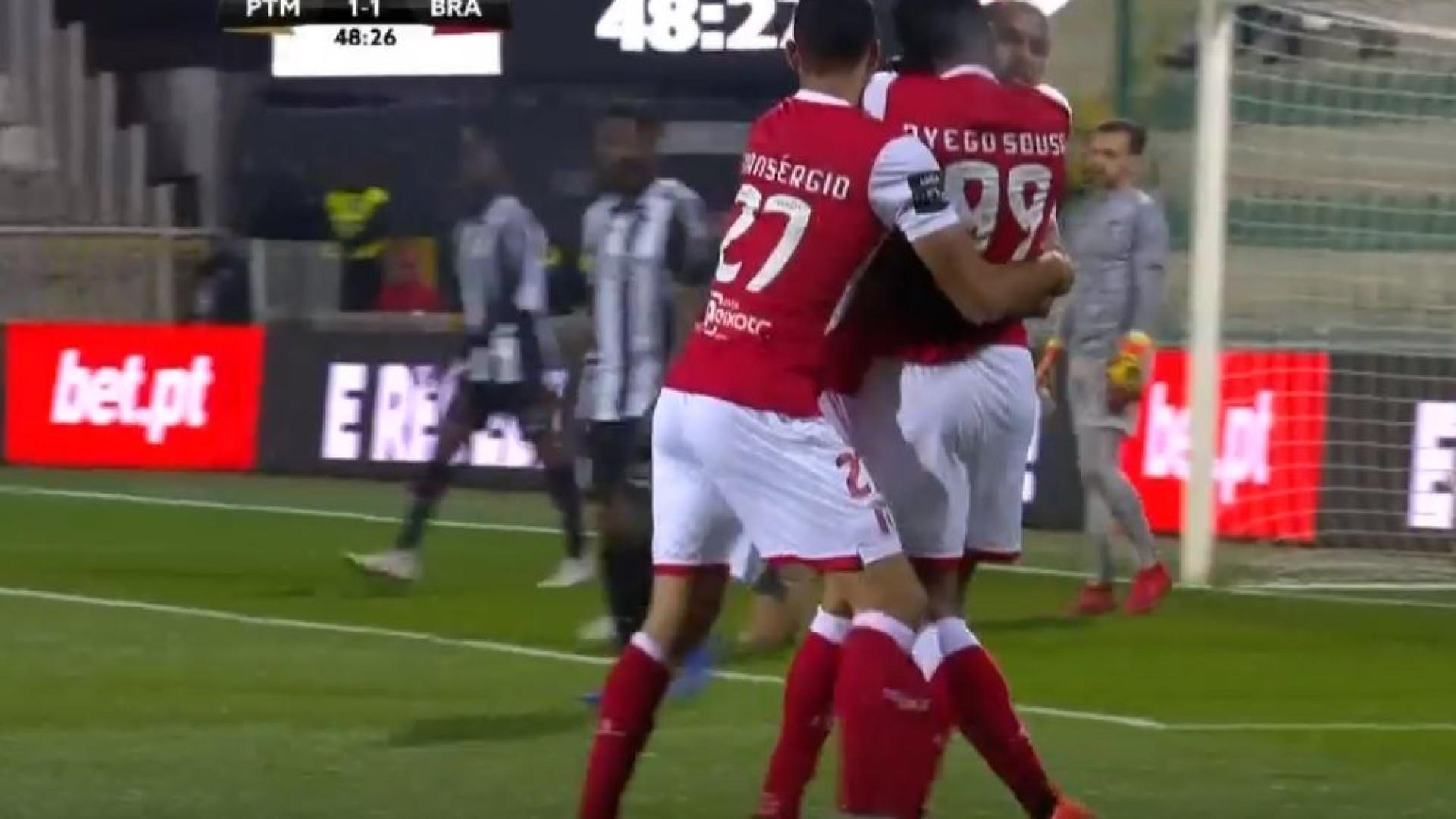 Dyego Sousa (quem mais?) faz o seu 12.º golo na I Liga