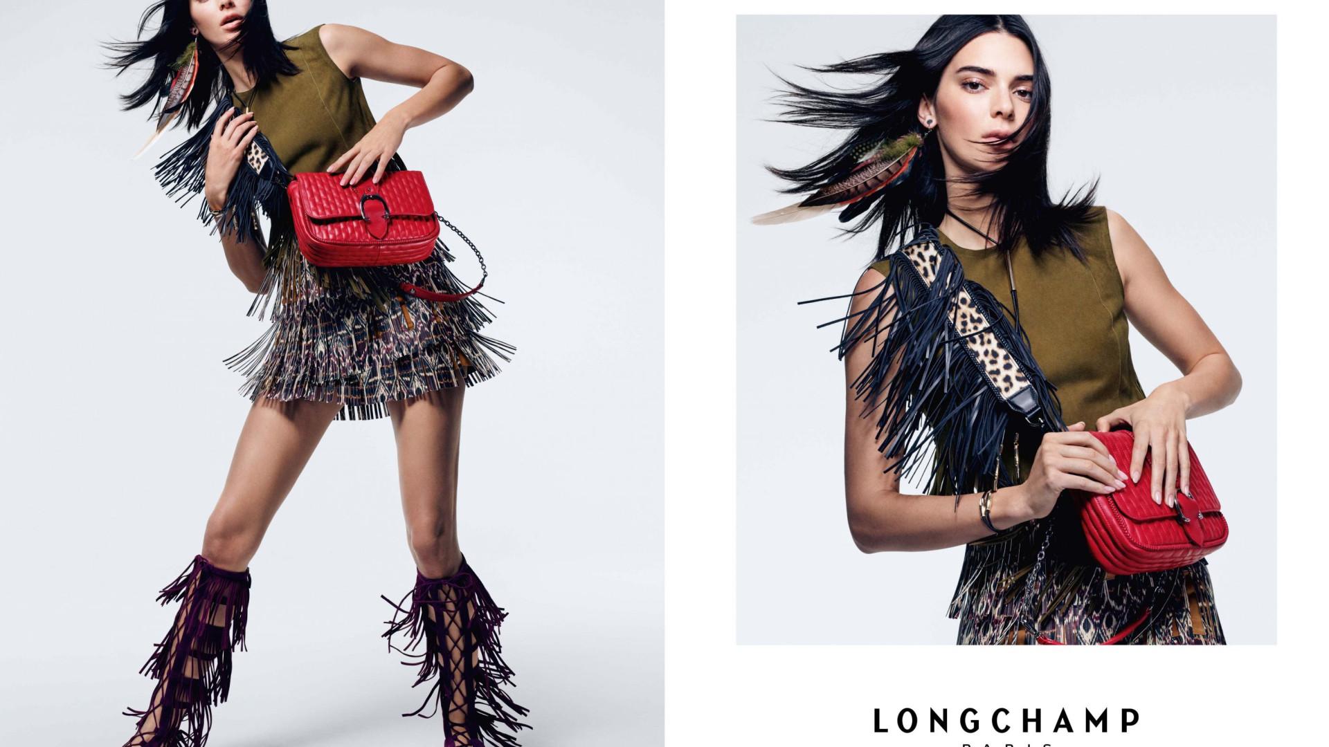 Kendall Jenner e o glamour dos anos 70 na nova campanha da Longchamp