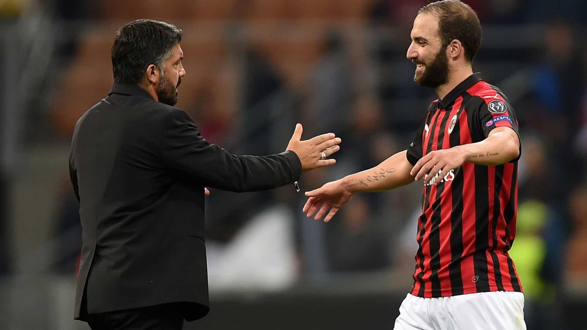 Adeus para breve? Gattuso aborda possível saída de Higuaín do AC Milan