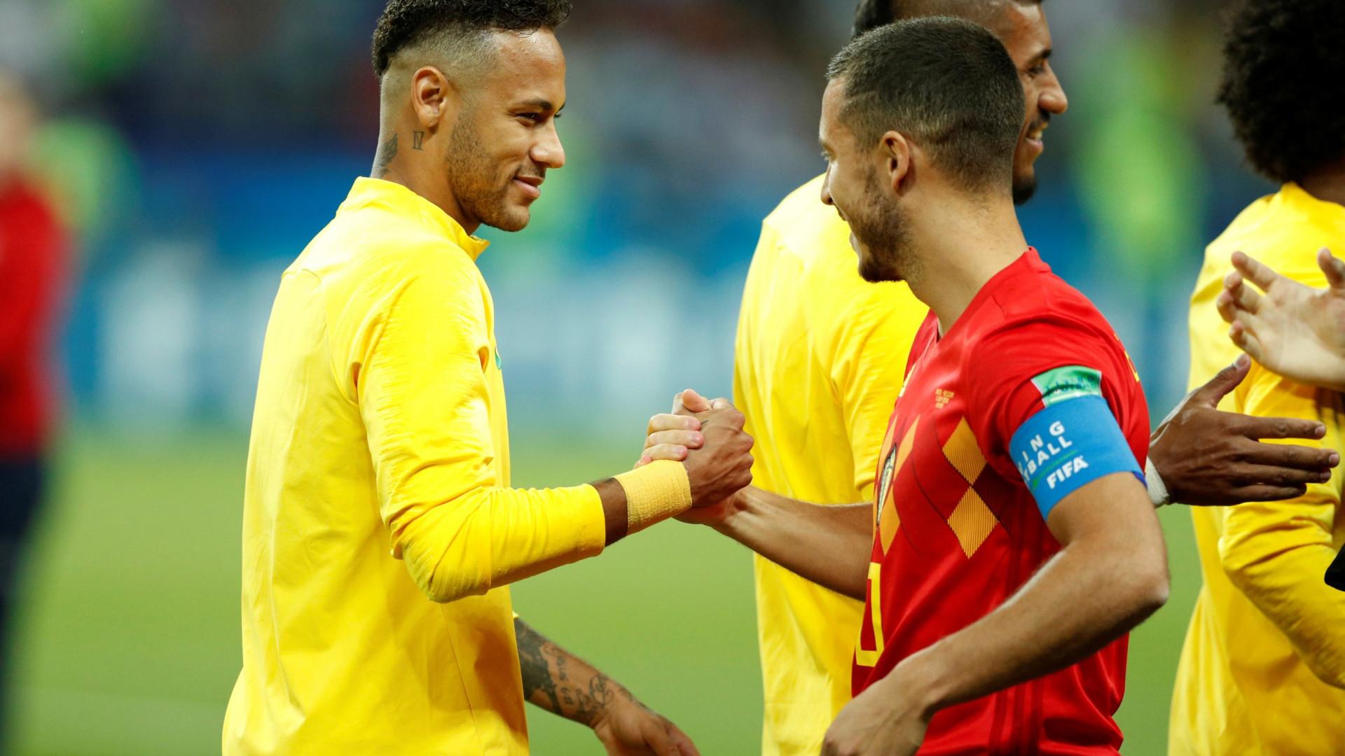 Quem é o melhor? Hazard escolhe entre Neymar, Messi e Ronaldo