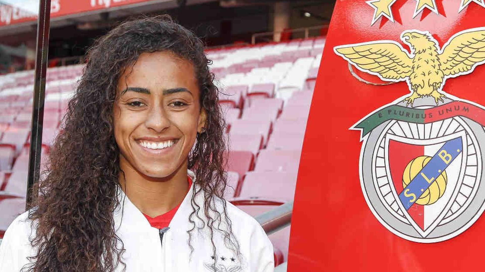 Internacional brasileira Tayla é reforço do futebol feminino do Benfica
