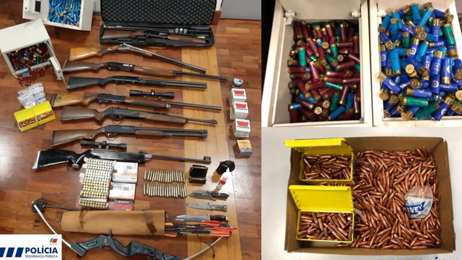 Suspeito de violência doméstica tinha arsenal, incluindo arco e flechas