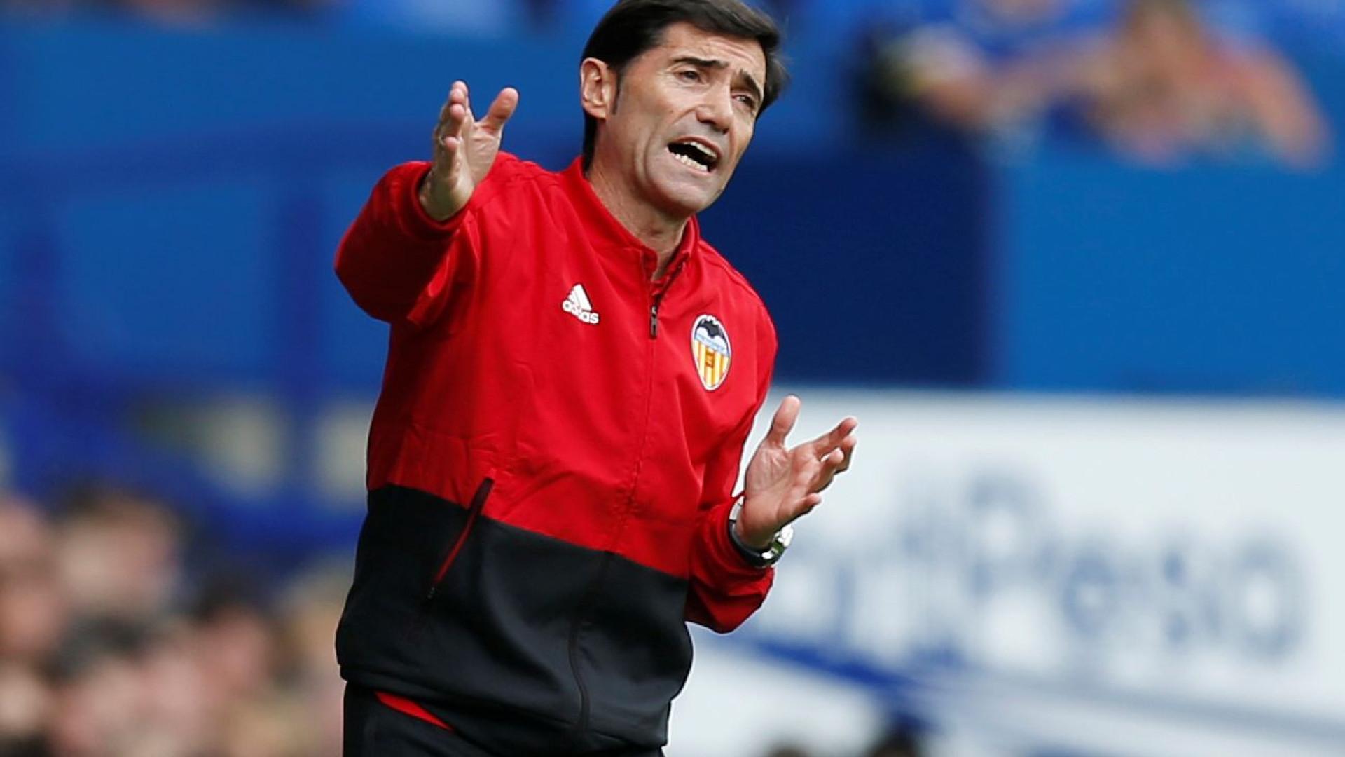 Com direção do Valencia reunida, Marcelino diz não estar preocupado