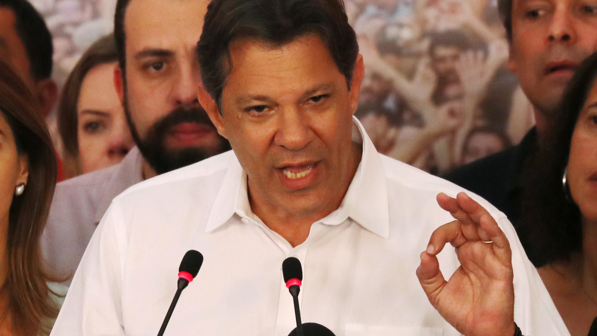 """Haddad quer """"Esquerda de novo a dialogar"""" com a sociedade brasileira"""