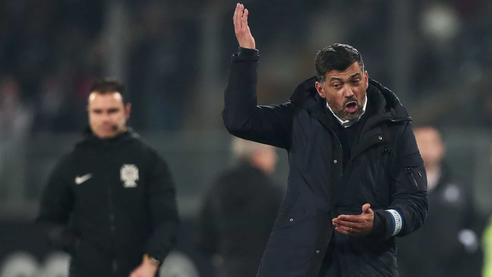Sérgio Conceição leva 21 jogadores a Roma