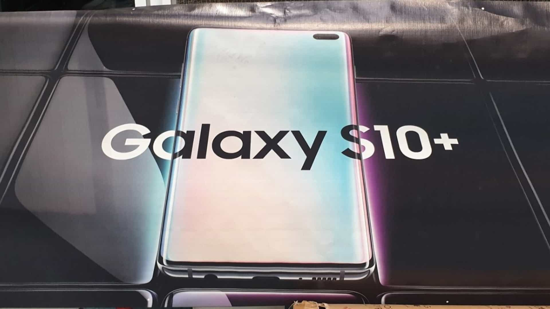 Cartaz do Galaxy S10+ confirma aspeto final do smartphone