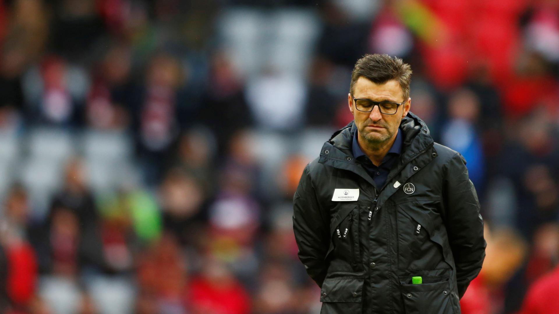 Nuremberga despede treinador após 15 jogos sem vencer