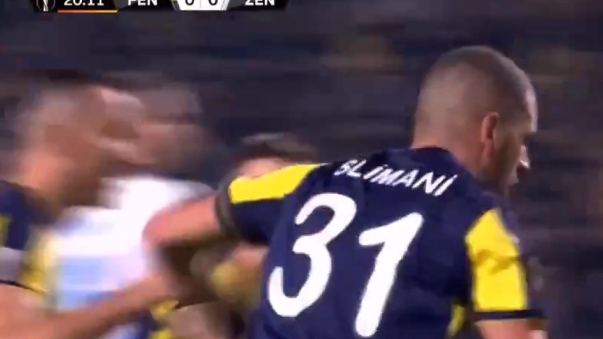 Depois de um canto, Slimani abre o marcador europeu na Turquia