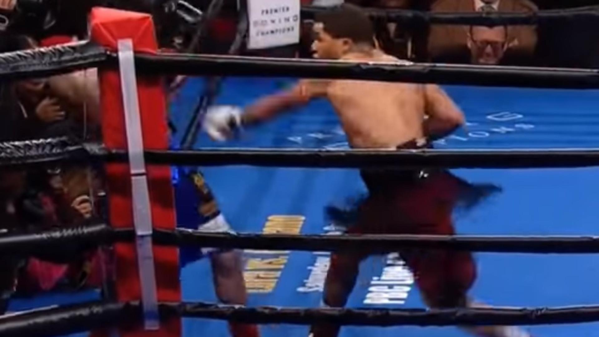 Pupilo de Mayweather aplicou um K.O. que o mundo do boxe parou para ver