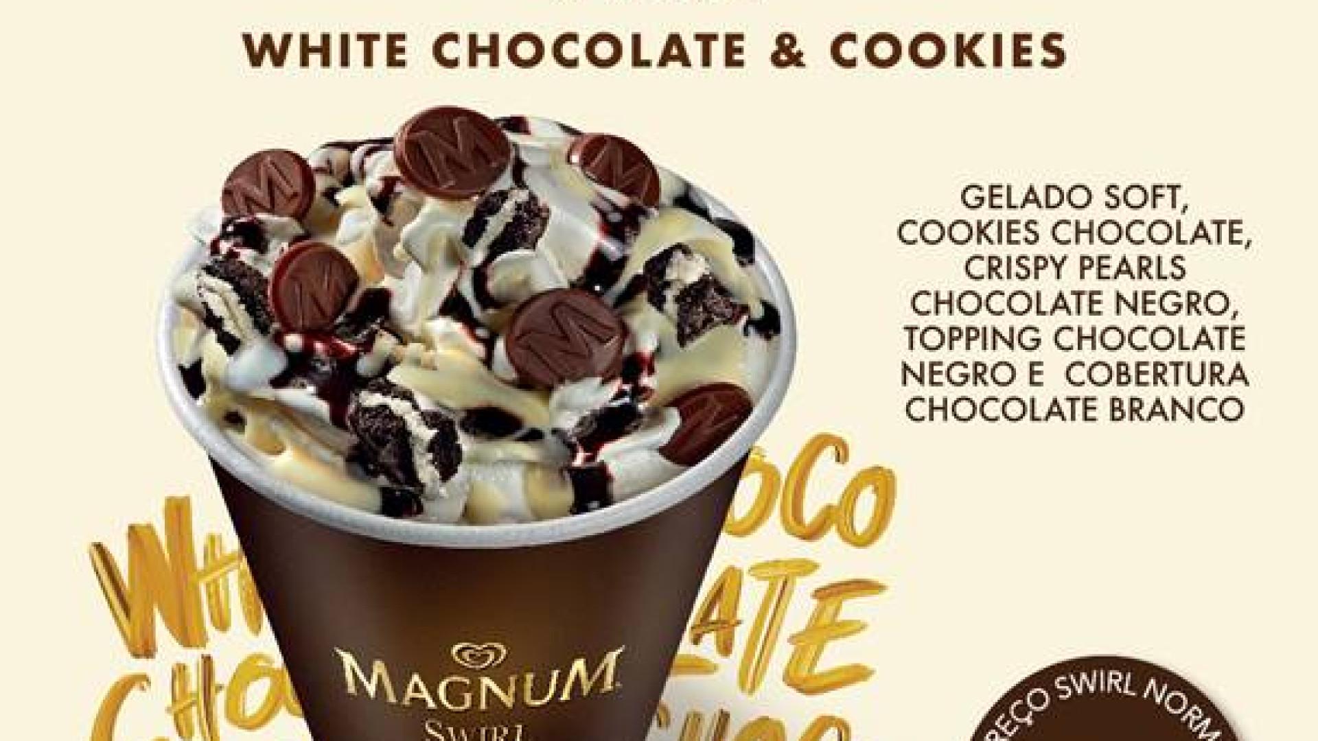 Magnum Swirl White Chocolate & Cookies é a novidade deste verão