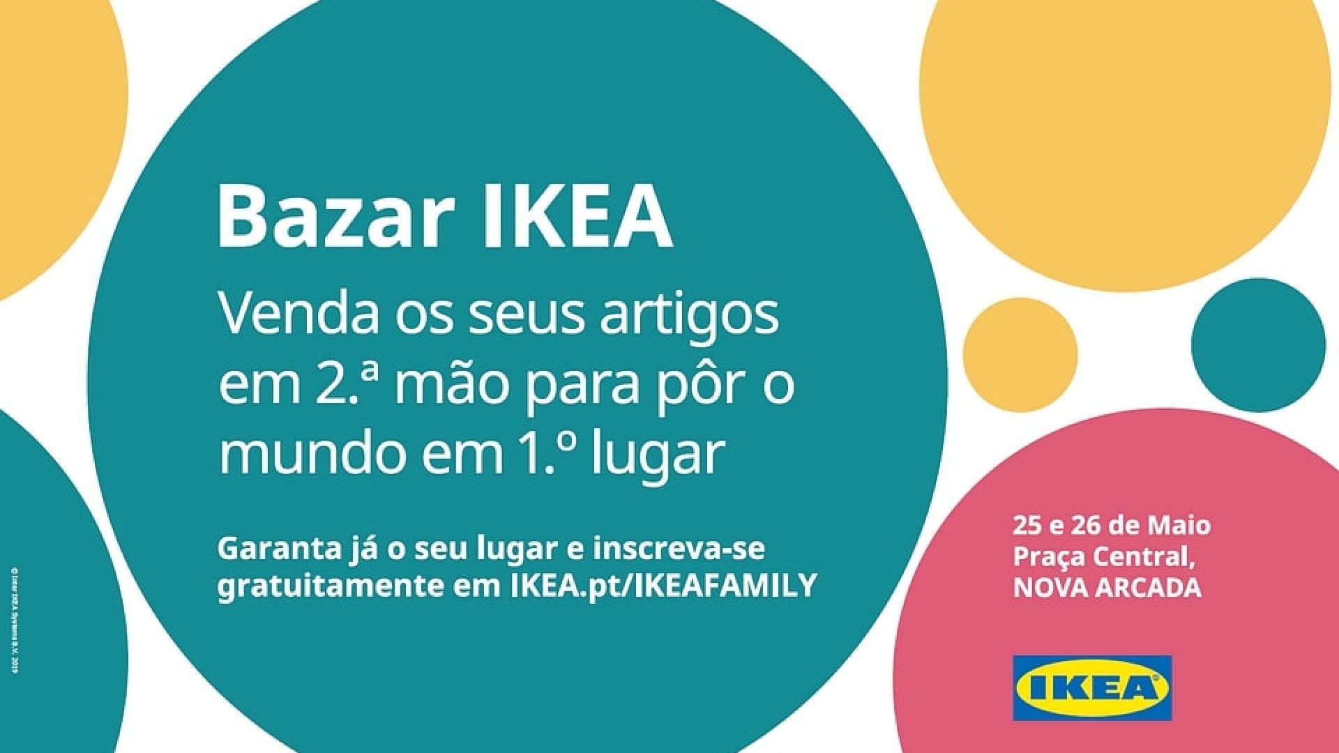 Nova Arcada acolhe Bazar IKEA para venda de artigos de em segunda mão