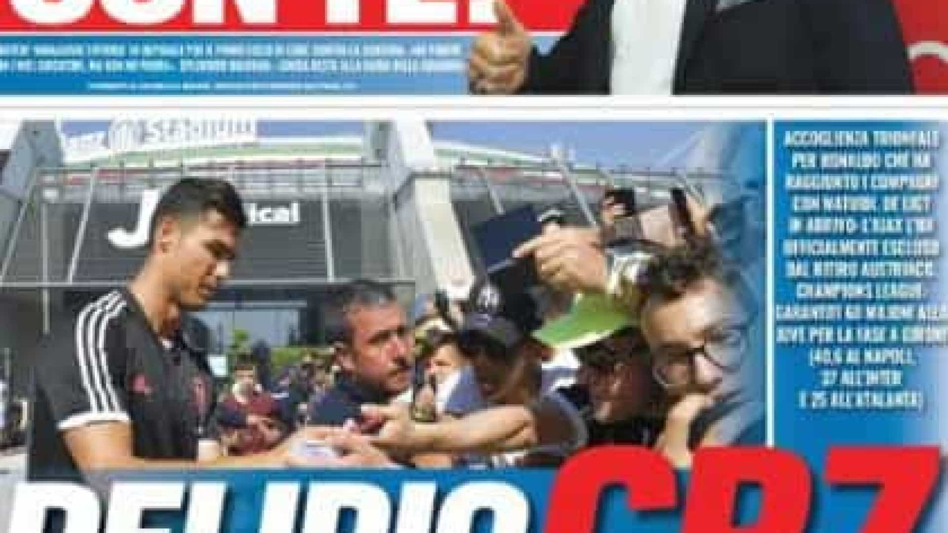 """Lá fora: """"Delírio CR7"""" em Itália e """"bomba"""" à vista em Espanha"""