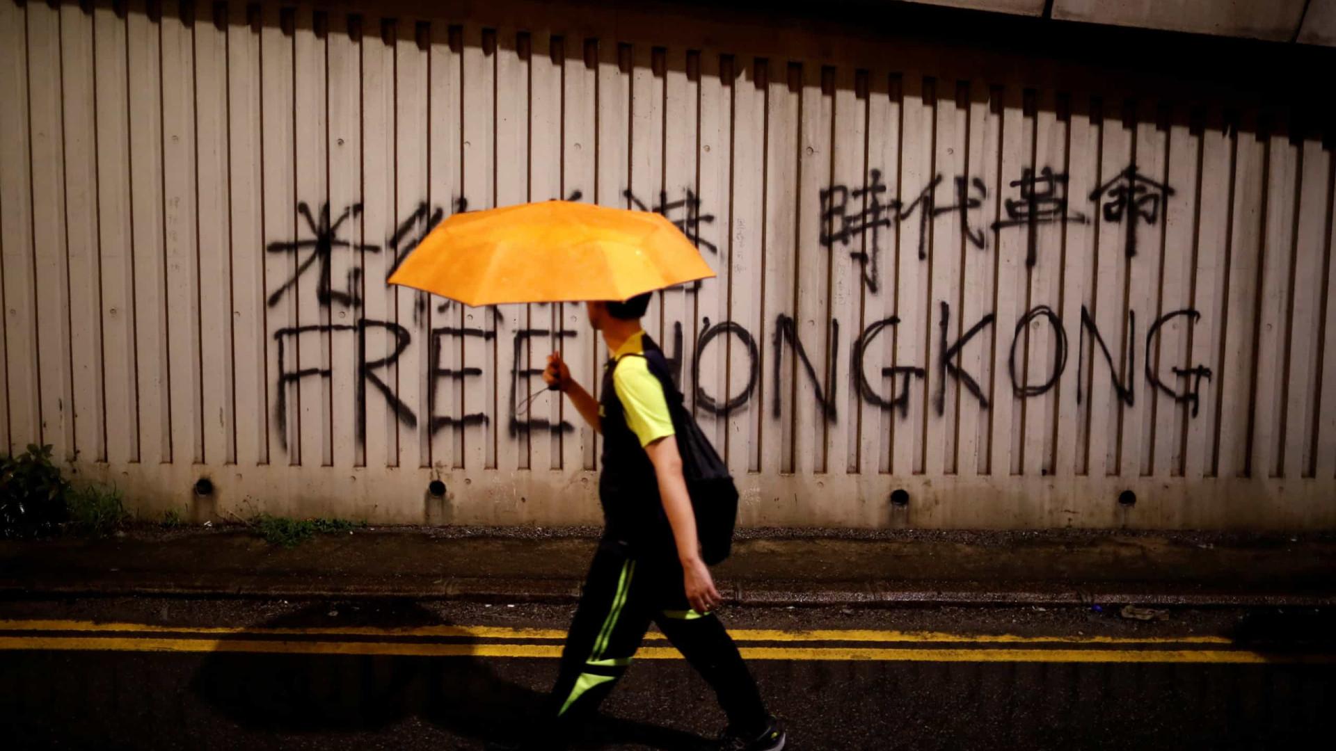 O quotidiano em Hong Kong, a cidade do protesto