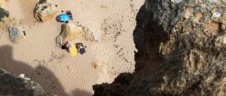 Já foram resgatados os 26 banhistas retidos na praia da Marinha