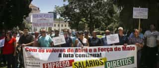 Trabalhadores da Soares da Costa manifestaram-se por salários em atraso