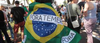 """Temer assegura que Brasil continua a trabalhar """"com ou sem os protestos"""""""