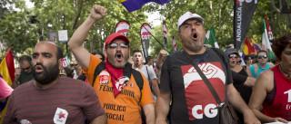 """Milhares desfilam em Madrid na """"marcha pela dignidade"""" do trabalho"""