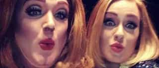 Adele entusiasmada depois de conhecer 'Adele versão drag queen'