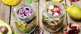 Saladas em frasco. Aprenda a preparar as suas