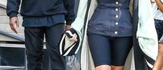 Kim Kardashian deixa sutiã em casa e sai à rua com look transparente