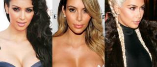Os penteados de Kim Kardashian