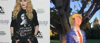Era uma vez Madonna e uma pinhata com a cara de Donald Trump