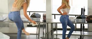 Khloé Kardashian é obrigada a tirar roupa em pleno aeroporto