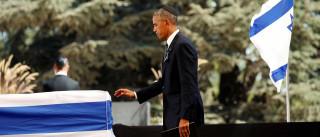 """Obama sublinha """"trabalho inacabado pela paz"""" em funeral de Shimon Peres"""
