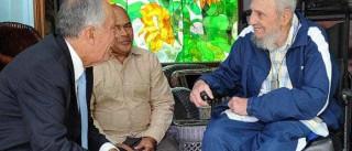 A foto do momento em que Marcelo e Fidel se encontraram