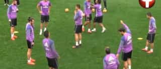 Cristiano Ronaldo e Coentrão 'pegam-se' no treino do Real Madrid