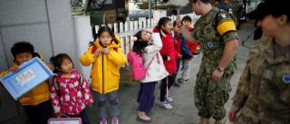 Com soldados e arame-farpado. Assim é ir à escola entre as duas Coreias