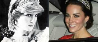 Kate Middleton deslumbra com tiara que pertencia a Diana