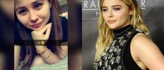 A Internet está chocada com a sósia da atriz Chloe Grace Moretz