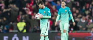 Lionel Messi marca o golo da vitória mas não celebra