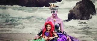 Mãe e filha vestem-se de personagens da Disney em fotografias fantásticas