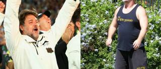Russel Crowe irreconhecível após ter engordado