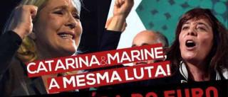 Catarina Martins e Marine Le Pen, a 'dupla' criada por Abreu Amorim
