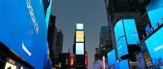 A Samsung anunciou o Galaxy S8 e Nova Iorque 'vestiu-se' a rigor