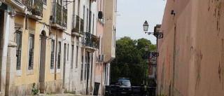 Mala abandonada fecha rua no Príncipe Real, em Lisboa