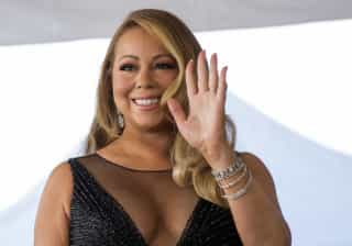 O decote de Mariah Carey que não correu bem numa saída de família