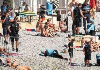 Nice: Mulher forçada pela polícia a despir burkini