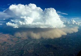 Piloto consegue fotografia única de tempestade