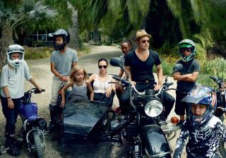 Brad Pitt passa a primeira noite (completa) com os filhos após o divórcio