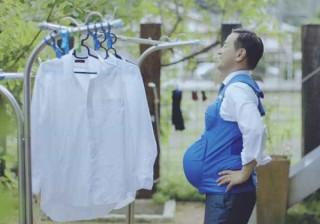 Políticos japoneses vestem a pele de uma grávida por um dia