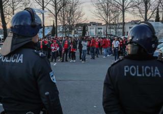 Confrontos entre adeptos nas imediações do Municipal de Braga