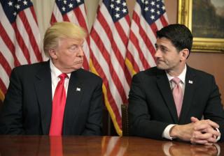 Ryan diz a Trump que não dispõe de votos para aprovar novo plano de saúde