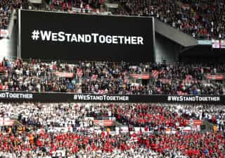 Wembley homenageia vítimas antes do Inglaterra-Lituânia