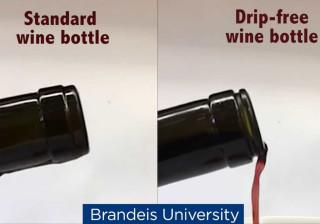 Nunca mais derramará vinho na toalha com esta garrafa